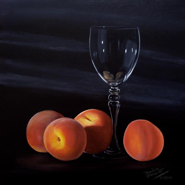 peaches with glass II by David Fright