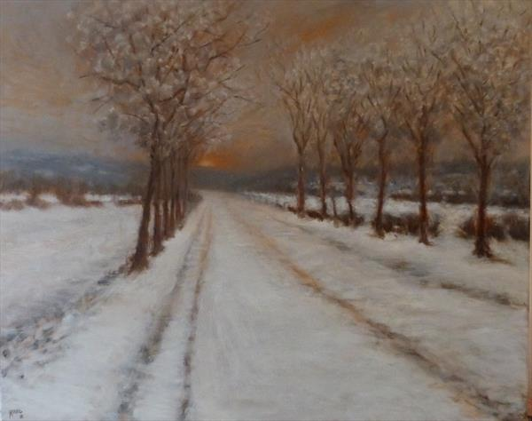 Winter Sunset by David Moore