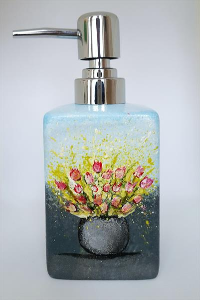 VASE WITH PINK TULIPS Soap Dispenser by Cinzia Mancini