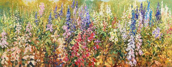 Summer Border (Diptych) (on display at Art Gallery, Tetbury)