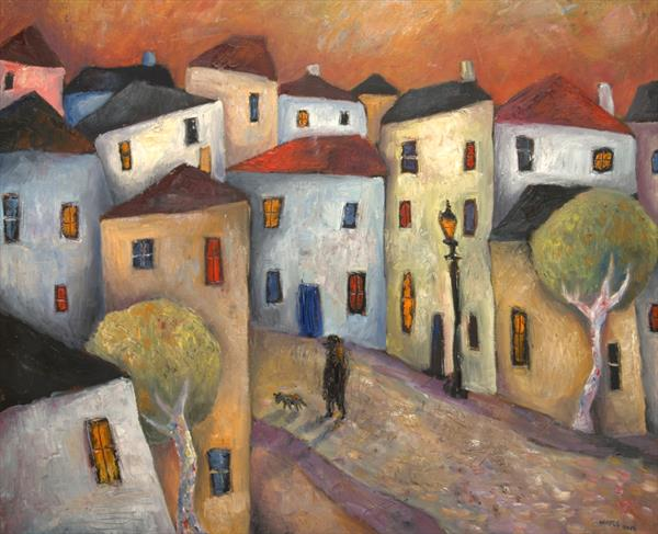 Road into the Old Town by Jeremy Mayes