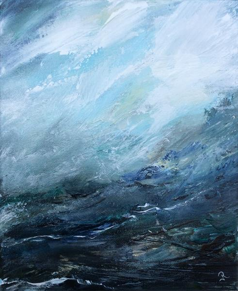 Abstract Anglesey Study by Janice  Rogers