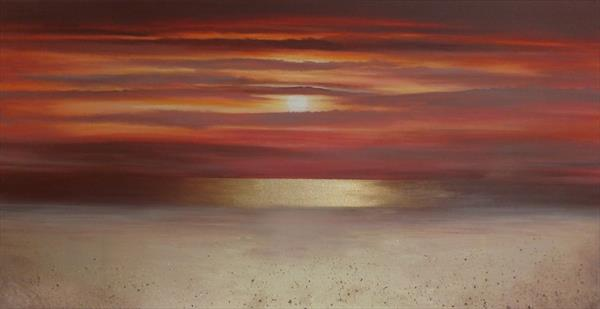 Red velvet Sunset by Sharon O'Brien by Sharon O'Brien