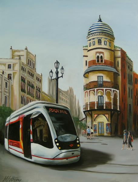 Seville Tram by Michael Anthony