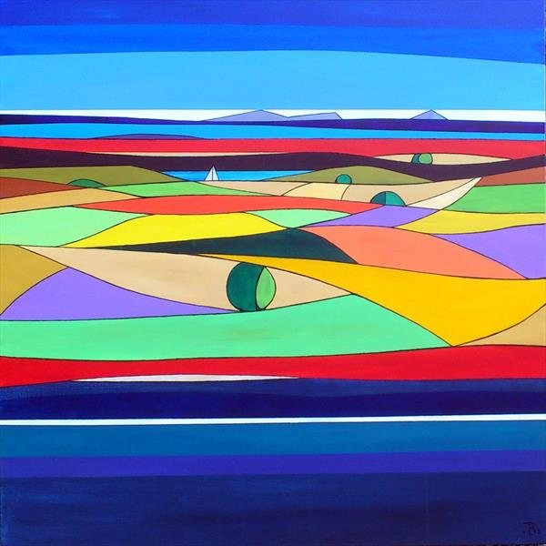 Abstract Landscape 8 by Tony Baden
