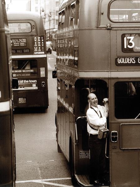 Conductor On Routemaster by Michael Valeriani