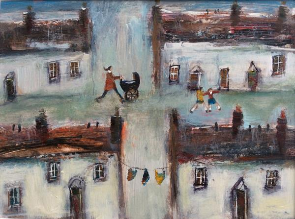 LITTLE WELSH VILLAGE by Roma Mountjoy