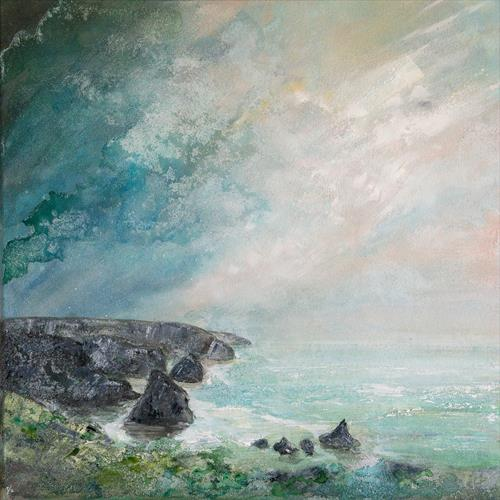 Bedruthan Steps Silhouette by Diane Griffiths