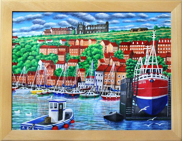 Whitby Harbour by Ronald Haber