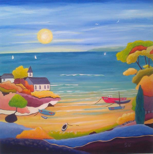 Boats in the Bay by Suzie Wainman
