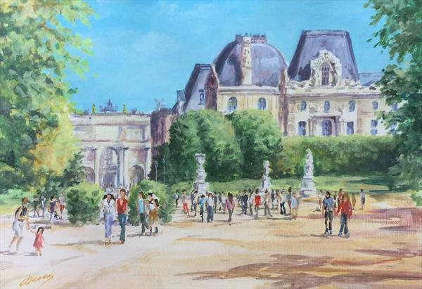 The Louvre by Andrea Thomas