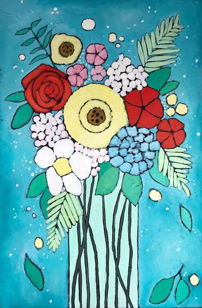 Flowers in a vase III by Eileen Kiely