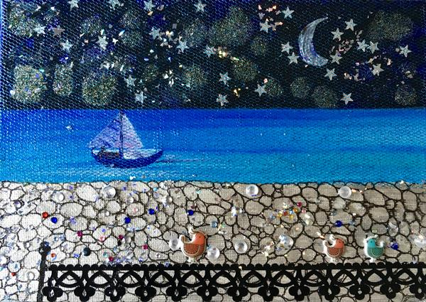 Sailing into the night by Anna Conversano