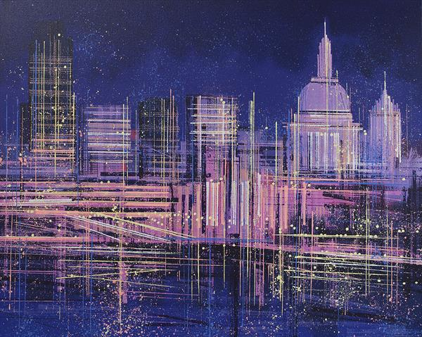 London Lights - St Paul's Cathedral by Marc Todd