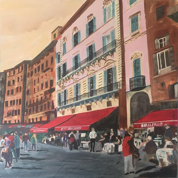 A Stroll in the Piazza by Ray Jones