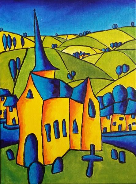 Devon Church in the Landscape by Simon Bramble