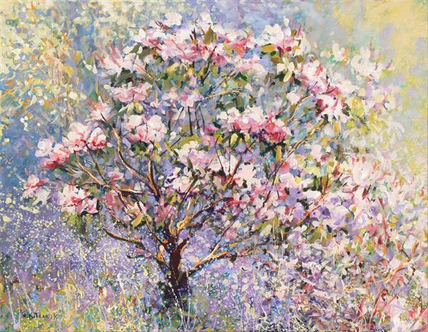 Spring Magnolias (on display at the Art Gallery, Tetbury) by Mariusz Kaldowski