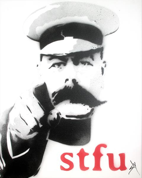 STFU (On canvas) by Juan Sly