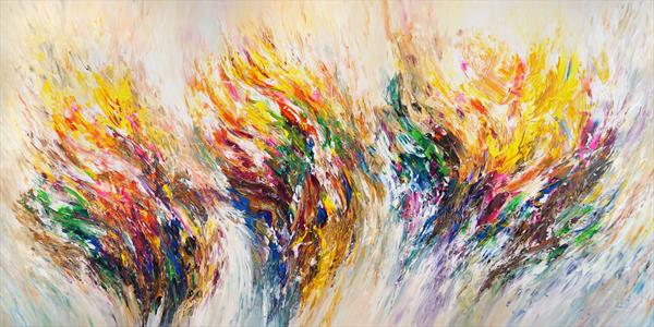 Wonderful Dreamworld XXXL 1 / very large painting, unstretched  by Peter Nottrott