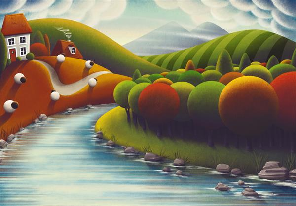 At The Rivers Edge - Signed and Framed Limited Edition by Rob Palmer