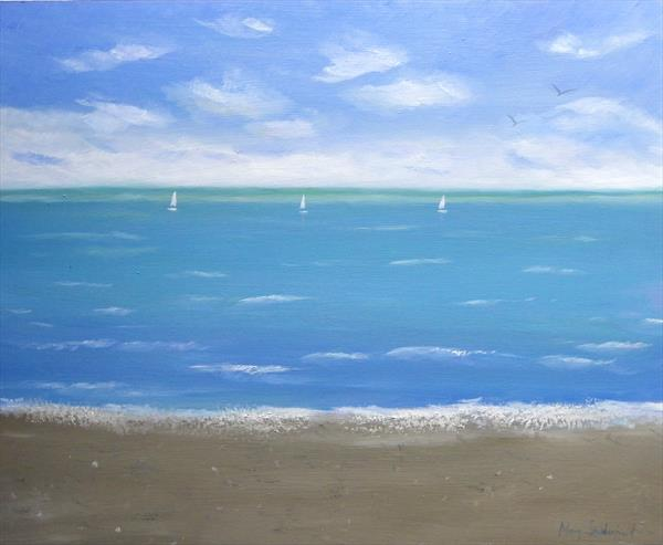 A Calm Day seascape painting by Mary Stubberfield