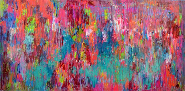 Mountain Air - 160x80 cm - Big Painting XXXL - Large Abstract, Supersized Painting - Ready to Hang by Soos Tiberiu - Anton