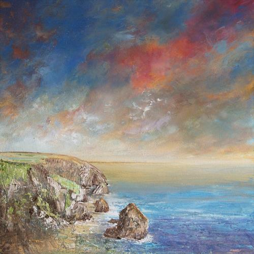 Bedruthan Steps Sunset by Diane Griffiths