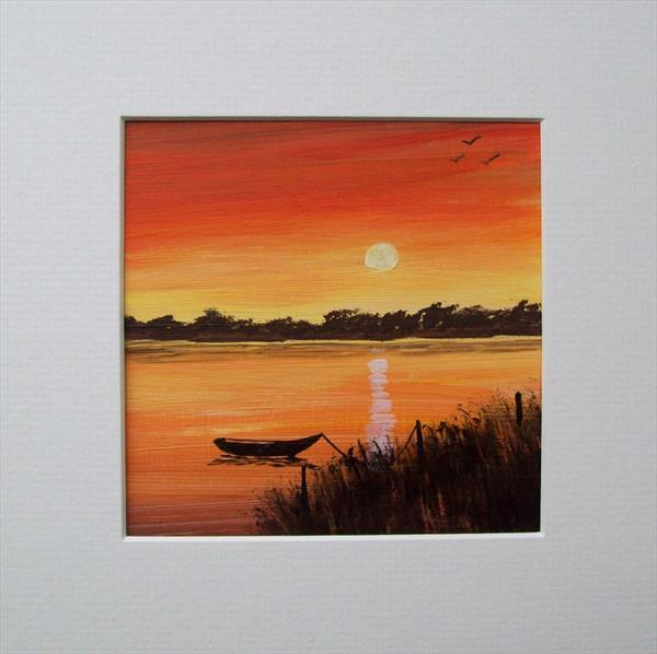 Sunset River by Patricia Richards