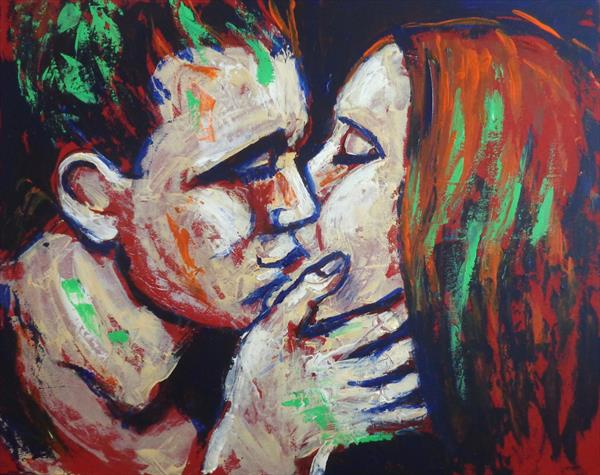 Lovers - Colours And Kisses by Carmen Tyrrell