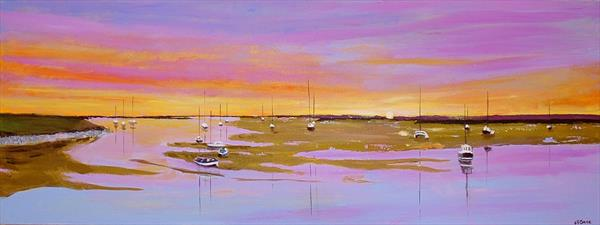 Wells next the sea - sunset by Andrew Snee