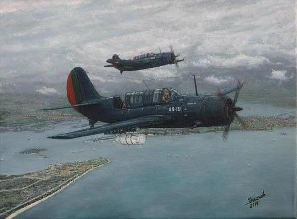 Curtiss SBC-5 Helldiver of the Portuguese Naval Aviation  by Carlos De Vasconcelos