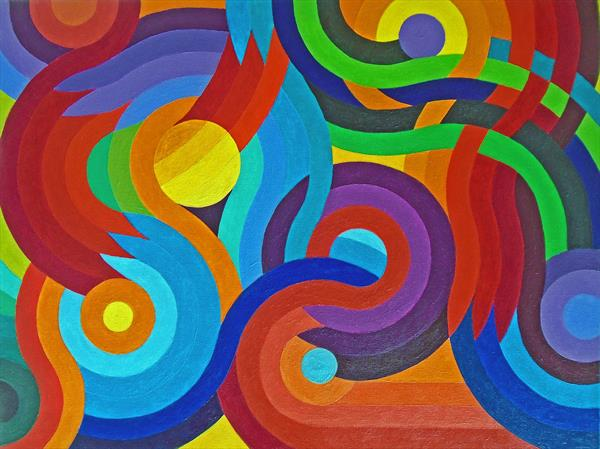 CELEBRATION OF CURVES & COLOURS V2 by Stephen Conroy