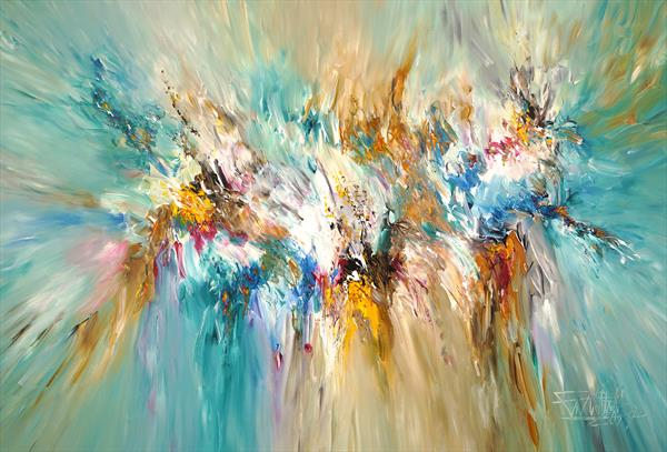 Turquoise Daydream XL 2 by Peter Nottrott
