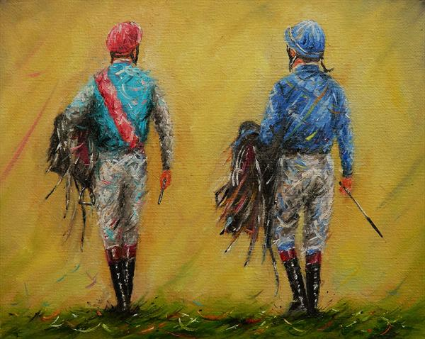 Jockeys - Study . Horse Racing