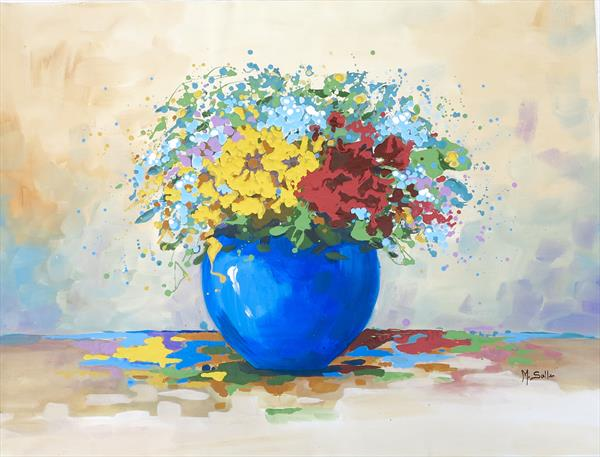 Flowers colours and happiness  by Marilene Salles