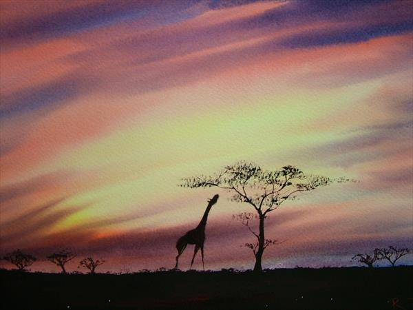 African Sunset by Ricky Figg