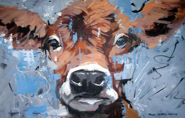 Curious Cow by Dawn Ogden-white