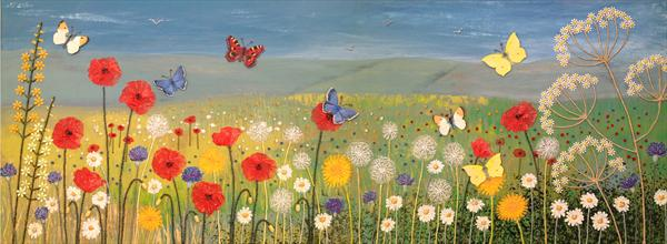 Open Fields, Wild Flowers and Butterflies by Josephine Grundy