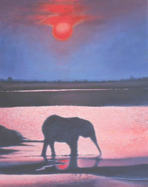 African Sunset by Marion Wilford