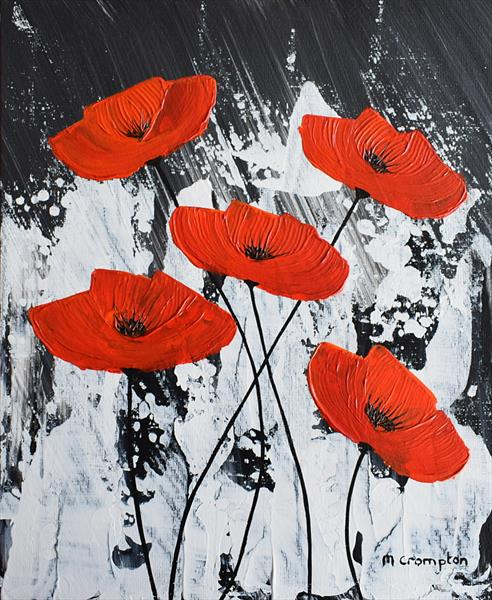Poppies in the Dark