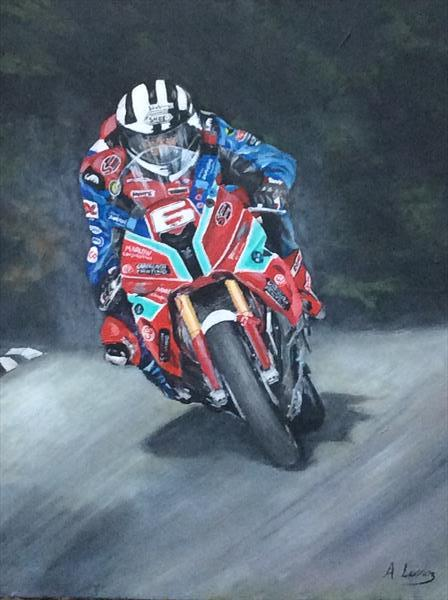 Michael Dunlop. by Andrew  Lennox