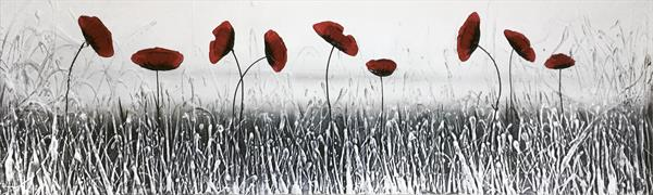 Iced Poppies by Carol Wood