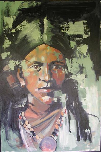 Native American girl by Dawn Ogden-white