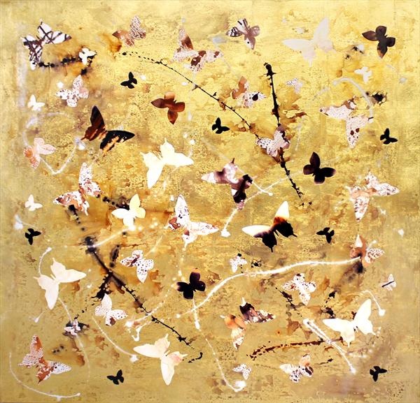Golden Waltz ( High Gloss Finish, Large)On Display At the Art Gallery in Tetbury