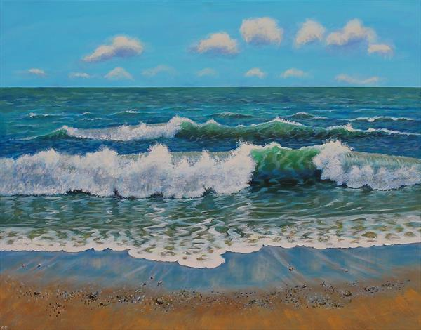 Waves on Shore by Sandra Francis