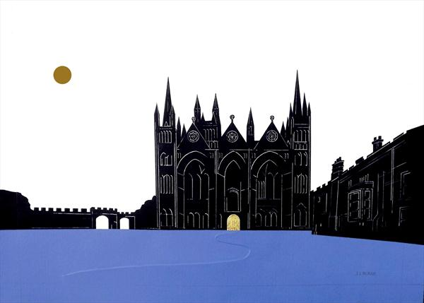 Peterborough Cathedral by Jean Lagadec