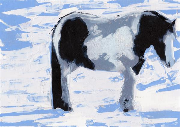 Horse with Blue shadows by John Byrne