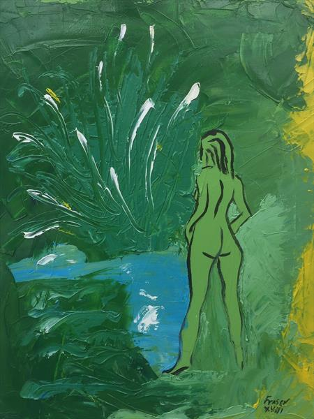 Green woman by Angus Fraser