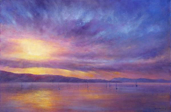 Sunrise over the bay by Stella Dunkley