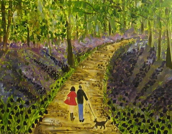 Romantic Stroll in the Bluebell Woods